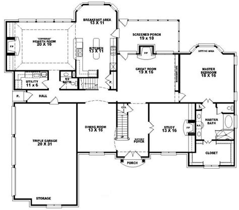 5 bedroom house plans with bonus room 653617 2 story traditional home with 4 bedrooms