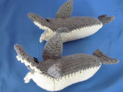 knitted shark booties custom order handmade crocheted knitting shark slipper socks