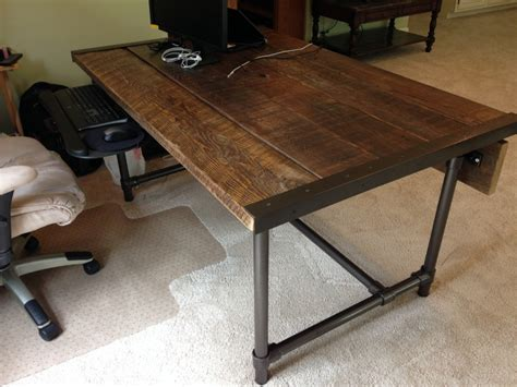 how to build a desk easy to build barn wood desk desk week