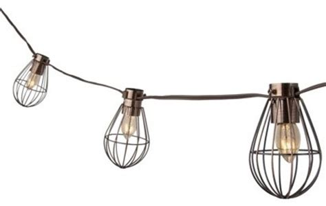 industrial outdoor string lights smith hawken caged lantern string light industrial