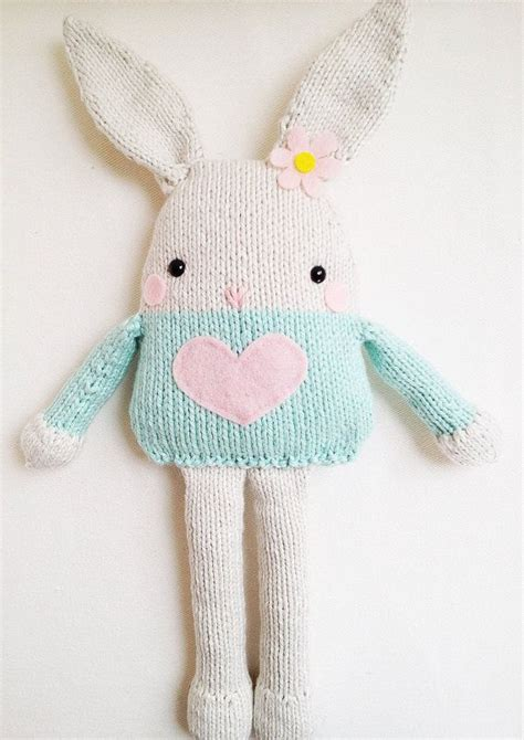 how to knit a bunny bunny knitting pattern easter bunny softie pattern pdf