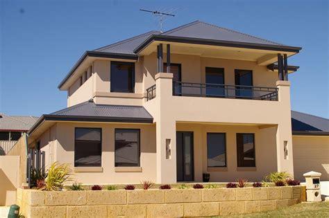 exterior colour exteriors double storey house designs