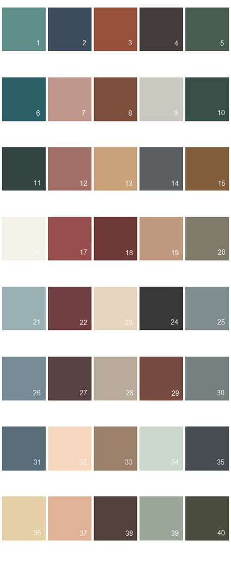 behr exterior paint color palette behr color palette images