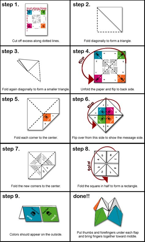 fortune teller paper craft how to paper fortune teller origami