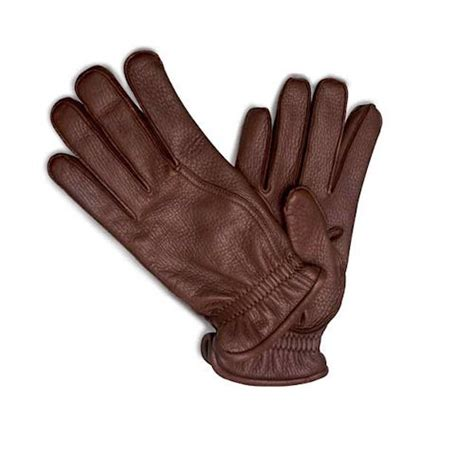brown leather gloves mens pineider s leather gloves reddish brown deerskin