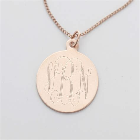 how to make engraved jewelry sterling silver engraved monogram necklace