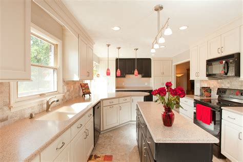 Design Ideas For Galley Kitchens galley kitchen ideas with cream color schemes and lowes