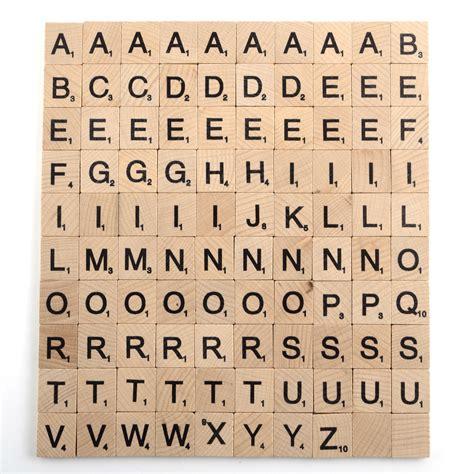 x scrabble 100 x high quality scrabble tiles letters tile craft 1