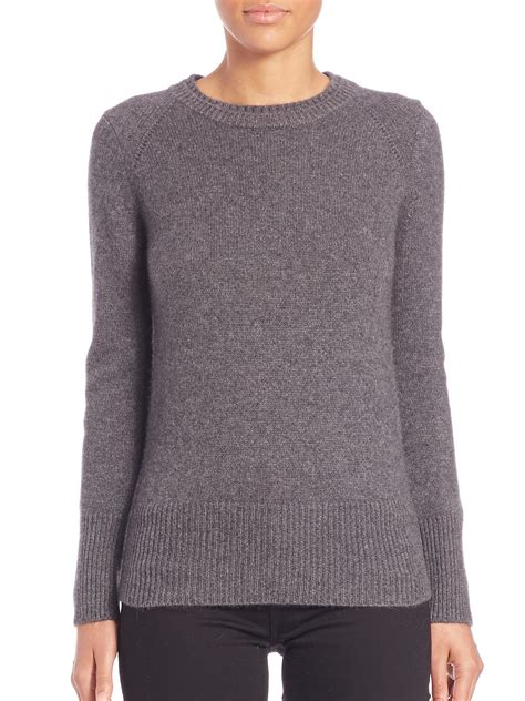 gray knit sweater burberry mid grey knit sweater in gray lyst