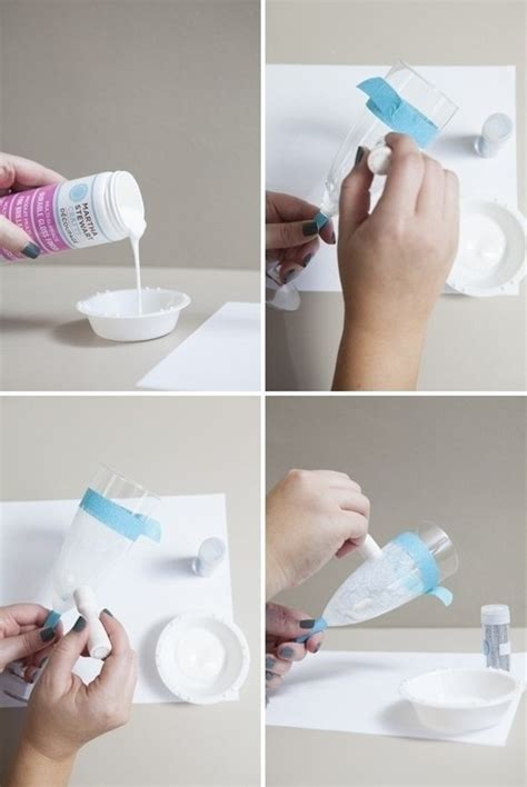 msc decoupage glue dishwasher safe glittered glassware 183 how to make a glass
