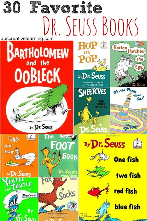 dr seuss books pictures 30 favorite dr seuss books abc creative learning