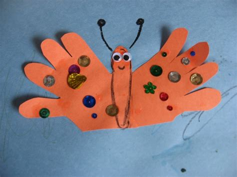 butterfly crafts for handprint butterfly craft