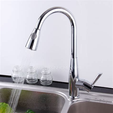 kitchen faucets high end high end thick copper chrome pullout kitchen sink faucet