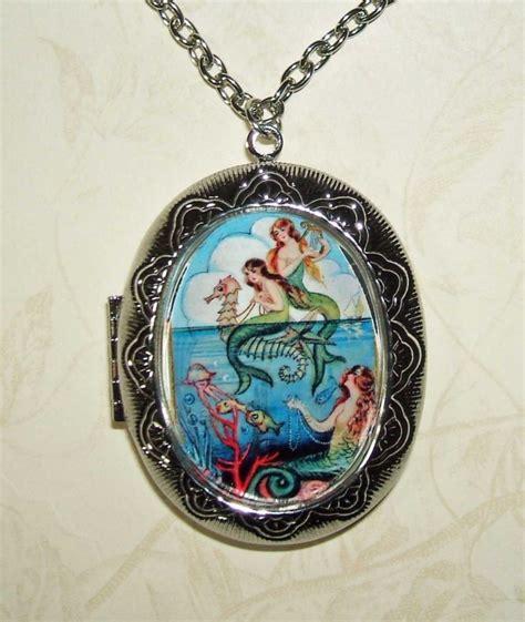 how to make mermaid jewelry mermaid necklace locket mermaids pendant photo holder