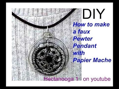 Paper Pendant Pewter Look Paper Jewelry
