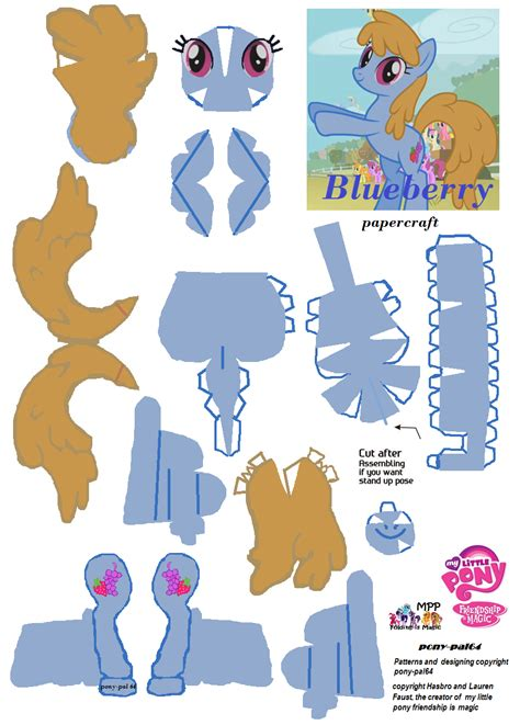 my paper crafting blueberry papercraft by pony pal64 on deviantart