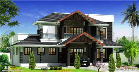 Luxury Kitchen Designer beautiful sloping roof villa elevation design house