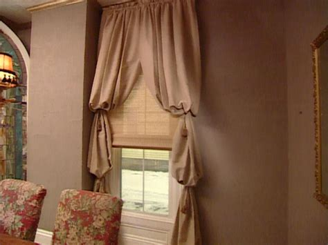 Dining Room Drapery Ideas bishop s sleeve window treatment hgtv