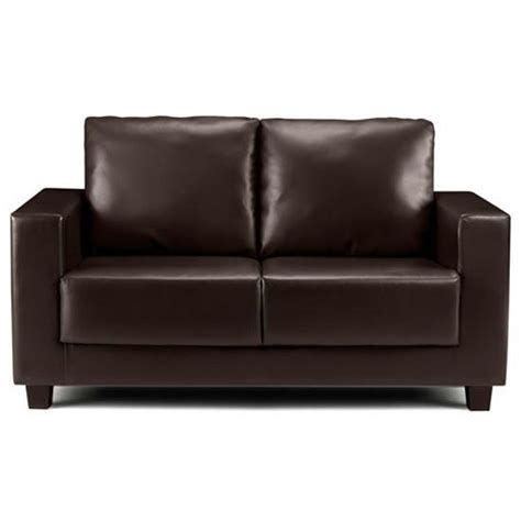 brown leather two seater sofa kirsty faux leather two seater sofa from frances hunt
