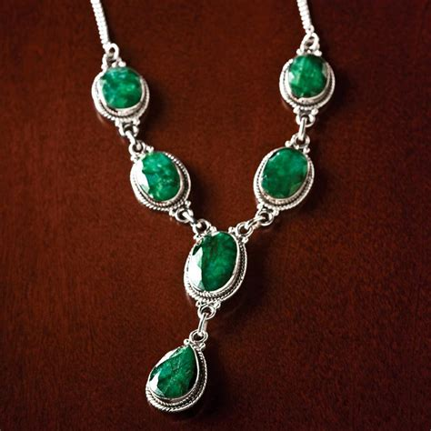 emerald necklace carnaval faceted emerald necklace 17887 stauer