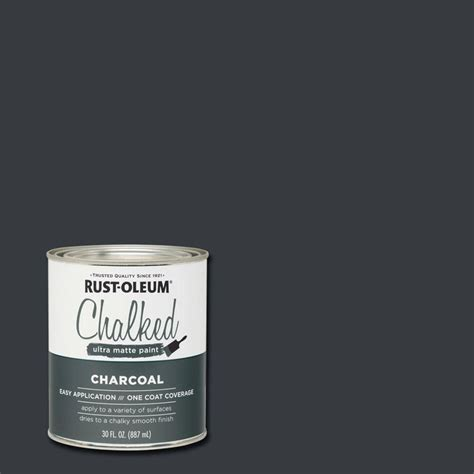 chalkboard paint rustoleum rust oleum 30 oz charcoal ultra matte interior chalked