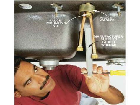 change kitchen faucet how to change a kitchen faucet 3 judul how to replace a