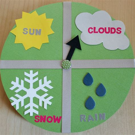chart paper craft 17 best images about weather teaching ideas on