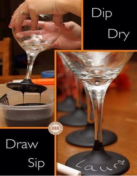 diy chalkboard label wine glasses diy cool way to label your wine glasses like if