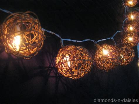 wicker string lights 20 brown wicker rattan battery operated led