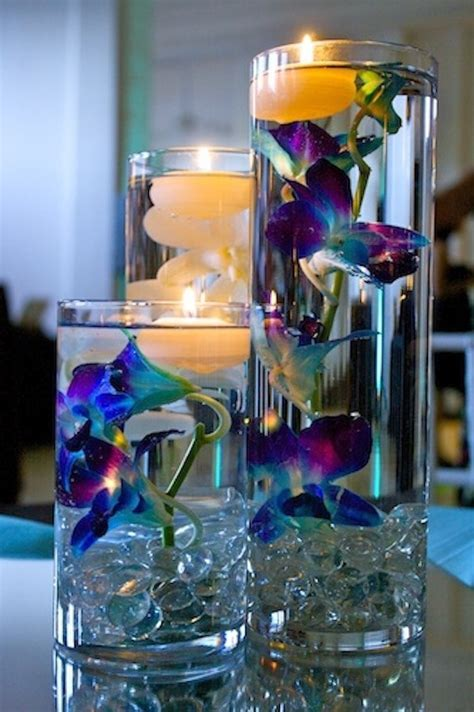 purple water centerpieces it will you try these floating candle vase for 2016