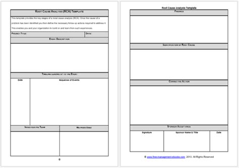 root cause analysis templates 8 docs for word excel