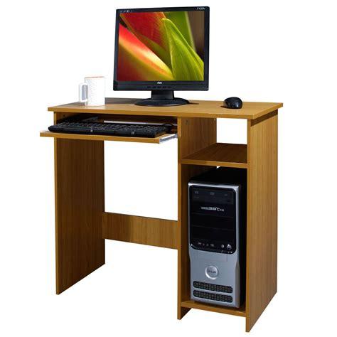 wood computer desks for home wooden computer desk basic home office table workstation