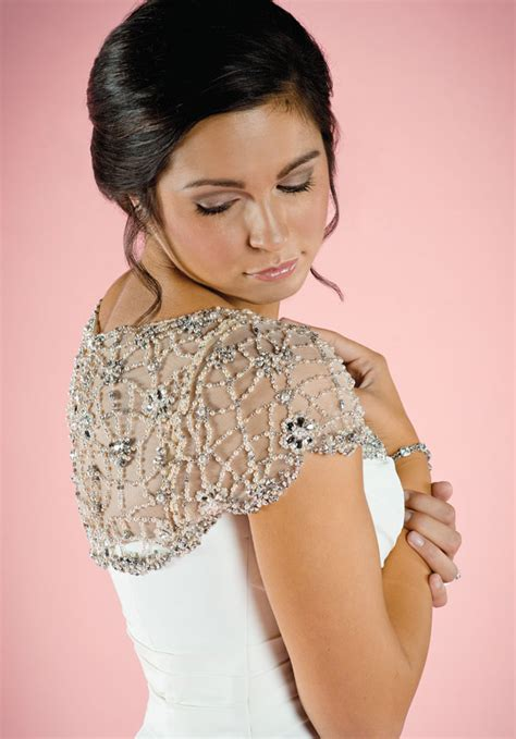 beaded wedding capelet color me wed 417 winter 2014