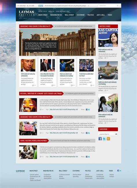 free site layman politics news and politics free psd website