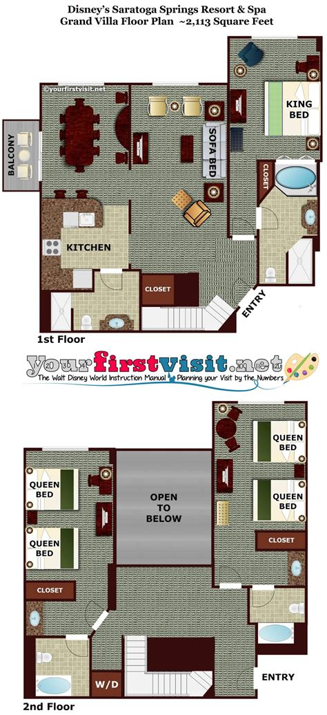 saratoga springs treehouse villa floor plan disney saratoga springs treehouse villas floor plan