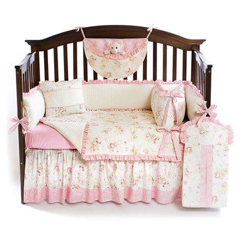 shabby chic baby bedding sets shabby chic pink 5pc baby crib bedding set custom made