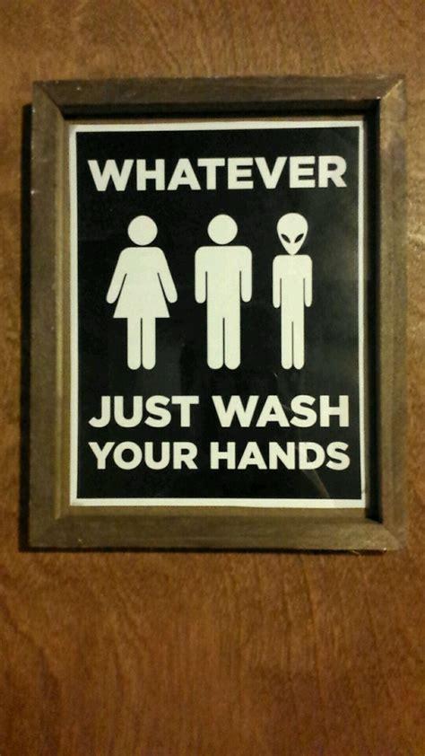 Gender Neutral Bathrooms by Gender Neutral Bathroom Sign Mildlyinteresting