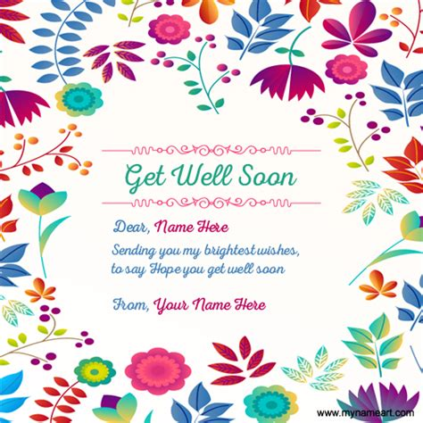 make your own get well card write your name on get well soon greeting card image with