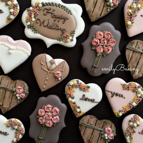 cookie ideas 25 best ideas about decorated wedding cookies on