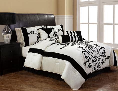 black and white comforter sets king 7pcs cal king salma black and white comforter set ebay