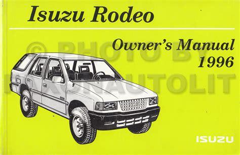 isuzu rodeo owner s manual free download programs backuperjumbo