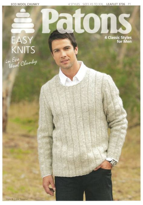 mens knitting patterns patons mens knitting patterns crochet and knit