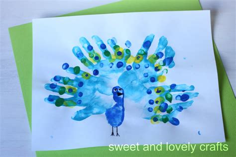 handprint crafts for sweet and lovely crafts handprint peacocks