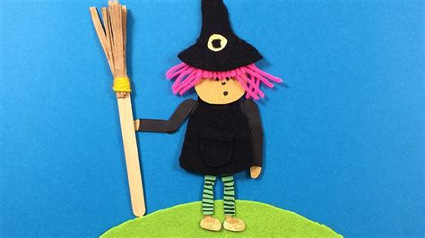 wool crafts for a witch made from felt paper wool simple craft