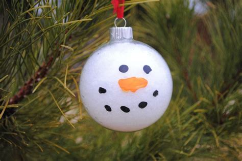 craft ornament snowy snowman ornament craft