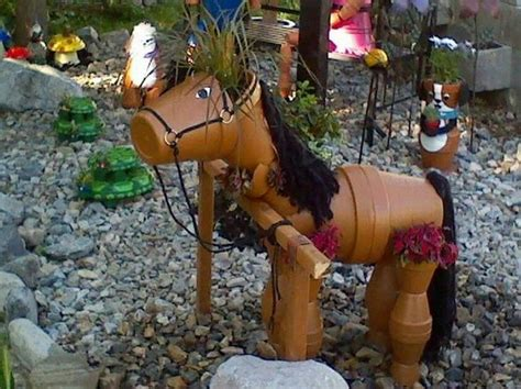 how to make a out of pony decorate your garden by this clay flower pot