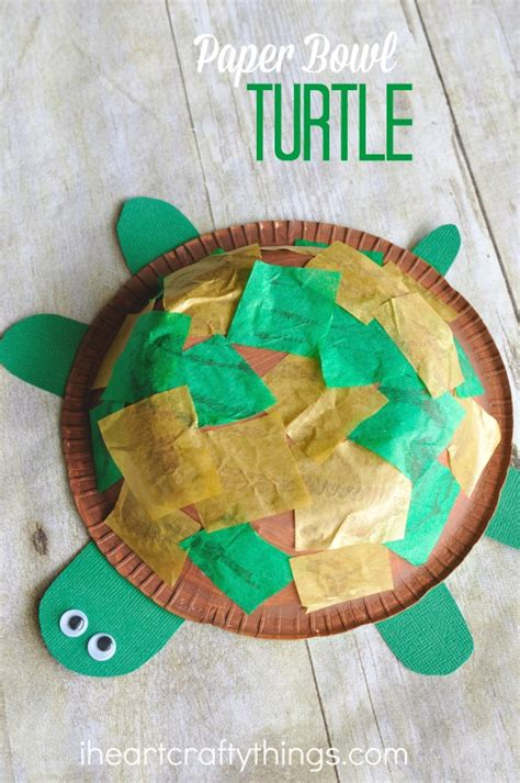 how to make and craft things for paper bowl turtle craft for i crafty things