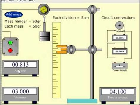 Electric Motor Simulation by The Quot Efficiency Of A Small Electric Motor Quot Simulation