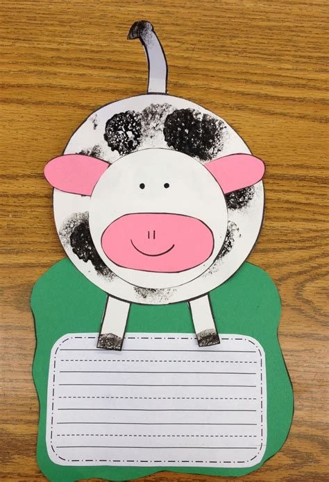 cow crafts for click clack moo freebie apples and abc s