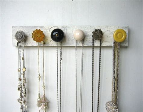 how to make a hanging jewelry organizer hanging jewelry organizer with yellow and gray knobs